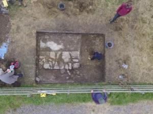 New Hall trench from a drone